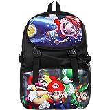 Bonamana Cartoon Super Mario Rucksack Anime Schultasche Rucksack für Jugendliche