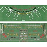 Trademark Poker Blackjack and Craps 2 Sided Layout 36-Inch x 72-Inch