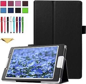 TianTa Case for Lenovo Tab 2 A8-50, A8-50F, Also Tab 3 TB3-850F, TB3-850M, ZA170001US, ZA170003US, Slim Folding PU Leather Cover with Auto Sleep/Wake Feature, Black