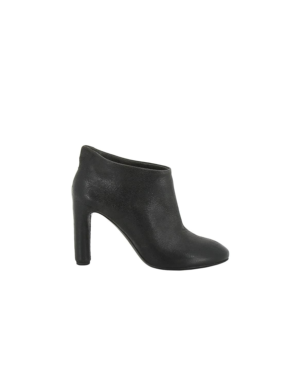 ROBERTO DEL CARLO WOMEN'S 10254GHISA BLACK LEATHER ANKLE BOOTS