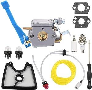 Hilom C1Q-W37 Carb for Husqvarna 125B 125BX 125BVX 28CC Carburetor Leaf Blower Parts Replace 590460102 545081811 545 08 18-11 with 581798001 Fuel Line Kit