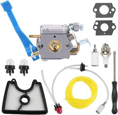 Carburetor Husqvarna 125B 125BX 125BVX Zama C1Q-W37 545081811 Spark Plug Fuel