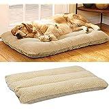 Camas para perros, marca Malayas, cama colchón con forro polar, lavable, con cremallera, acolchada para gatos