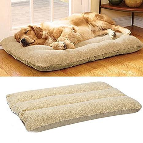 Camas para perros, marca Malayas, cama colchón con forro polar, lavable