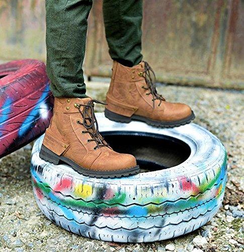 Uomo Tempo cima Libero Martin yellow All'aperto NANXZ cinghie In Modello Boots brown Pelle dwWRqdzf