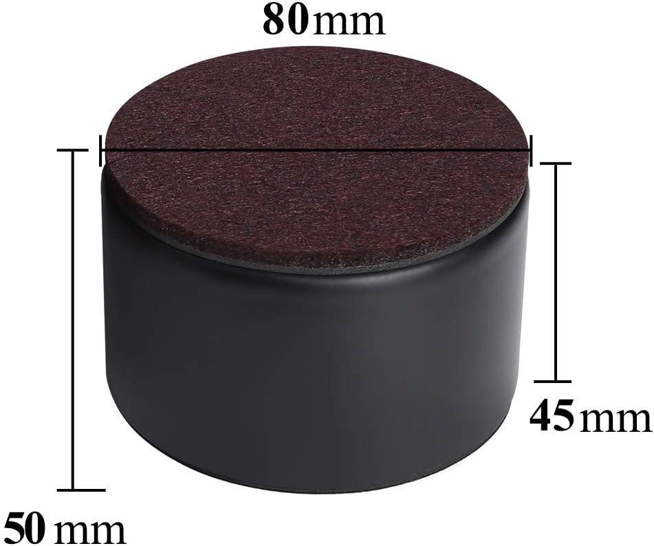 Resistentes Autoadhesivos Redondo Negro Elevadores de Cama de Acero al Carbono A/ñade 5 cm de Altura a las Camas y Sof/ás Di/ámetro de 8 cm Ezprotekt Elevadores de Muebles de 5 cm