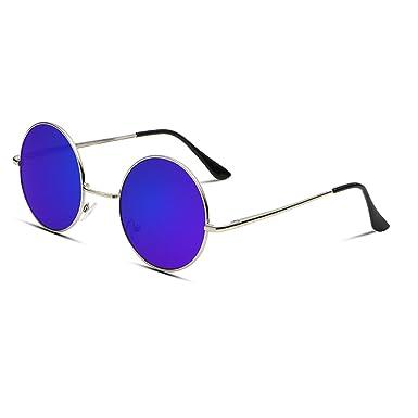 Amazon.com: mistere 2017 Nueva Ronda de moda anteojos de sol ...