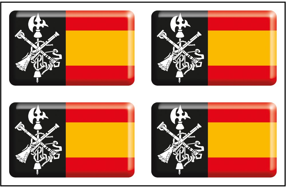 Artimagen Pegatina Escudo Pico Logo legi/ón Color 40x60 mm.