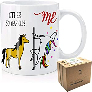 Other 50 Year Olds & me Funny Coffee Mug, Vibrant, Powerful, 50th Birthday, 1970 Novelty Unicorn Gifts for Women, Aunt, Mom, Wife, Friend, Sister, Her, Colleague, Christmas, Thanksgiving