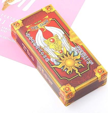 Anime Card Captor Sakura Card Pink Magic Book Box Collection Cards 52 Piece Set