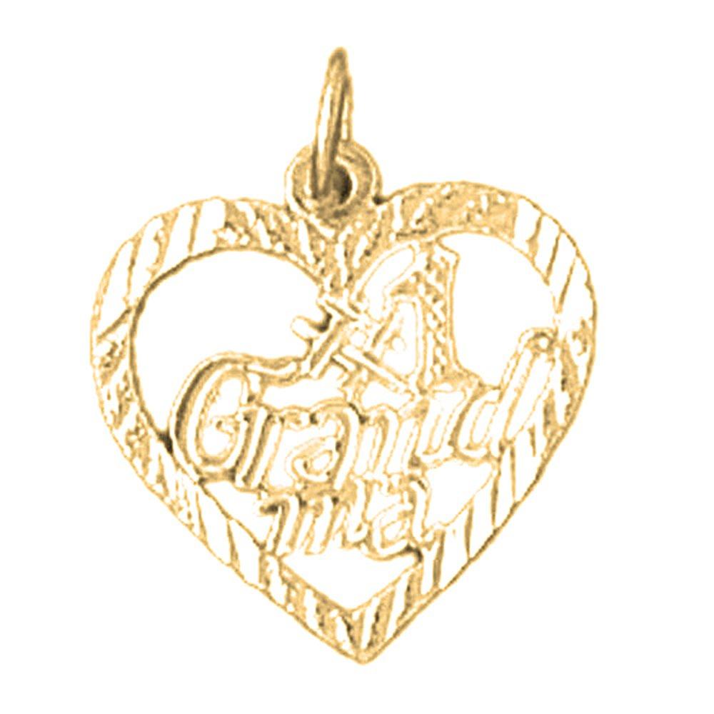 JEWELS OBSESSION 18K #1 Grandma Pendant 18K White Gold #1 Grandma Pendant Made in USA