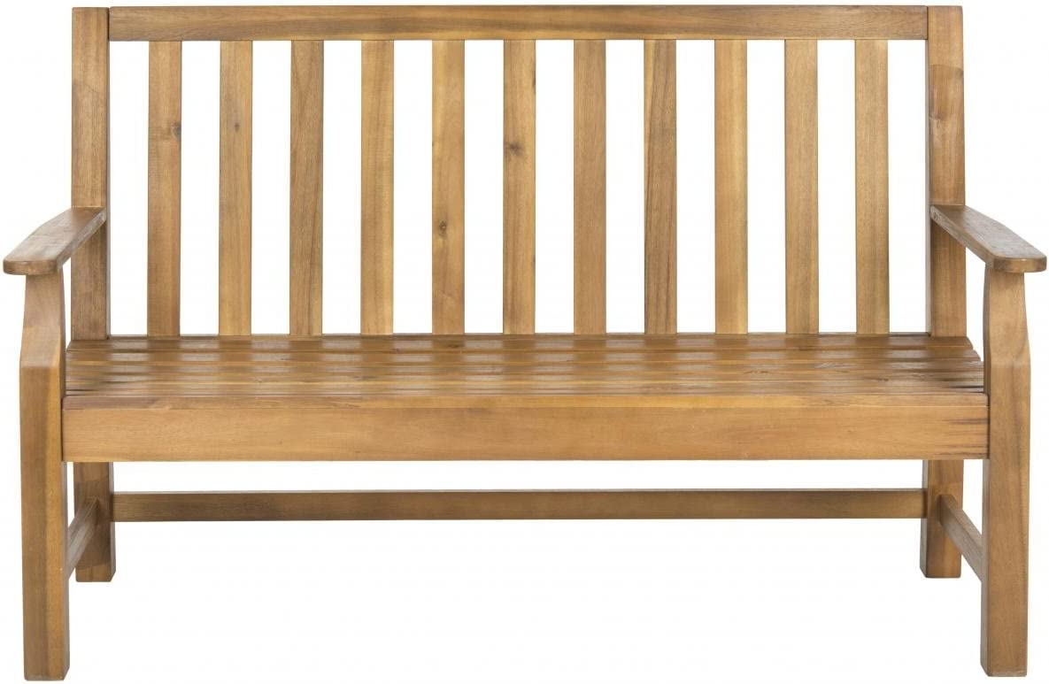 Safavieh Patio Collection Edwin Adirondack Acacia Wood Bench, Natural