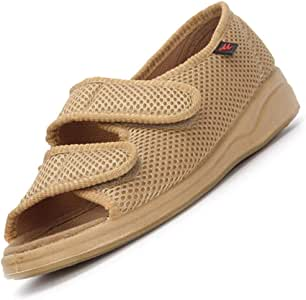 Zapatillas para diabéticos Extra Anchas Ajustable Fascitis Plantar Edema recuperación Calzado Malla Transpirable cómodos Zapatos para Ancianos pies hinchados Artritis Negro 37: Amazon.es: Deportes y aire libre