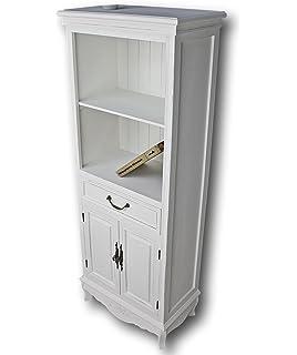 Elbmöbel Küchenregal In Weiß Aus Holz Mit Türen Im Landhaus Design