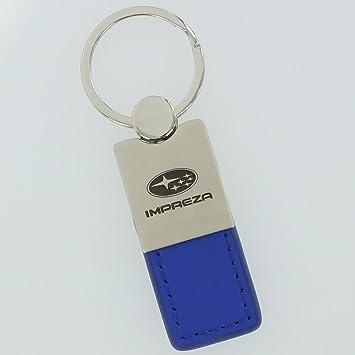 Subaru Impreza llavero de piel azul: Amazon.es: Coche y moto