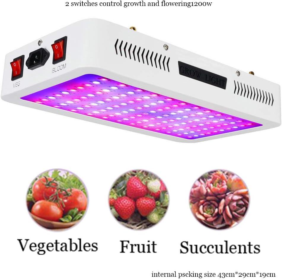 DDSGG Led Plant Light Full Spectrum, Led Grow Light 600W, 2019 Mejorado Grow Ligh, 2 Modos de conmutación Growing Blossom, para Cultivar Plantas Novice o entusiastas