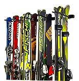 #6: StoreYourBoard Omni Ski and Snowboard Wall Storage Rack | Holds 10 Pairs of Skis | Ski Wall Mount Home & Garage Storage Hanger