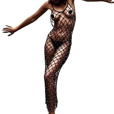 LILCAT Damen Bikini Cover Up Sommer Strandkleid Strandponcho ...