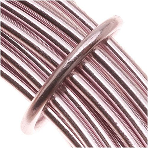 BeadSmith WCR-4102 11.8m Aluminum Craft Wire, Rose Pink, 12 gauge/39 Feet