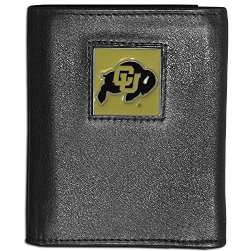 NCAA Colorado Buffaloes Leather Tri-Fold Wallet - Colorado Buffaloes Mens Leather