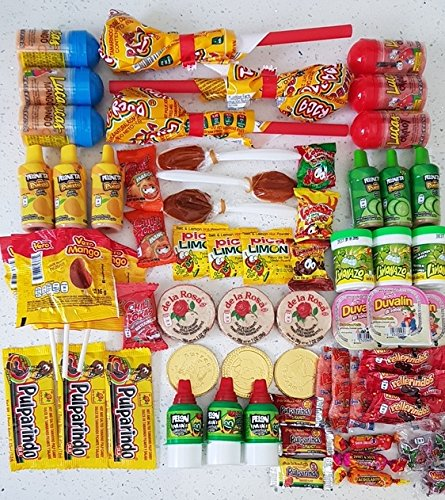 y Assortment (57 count) Delicious Sweat and Salty Mexican Candy Classic Assortment Vero Mango, Vero Pica Fresa, Mazapan, Pulparindo, Locochas, Pelon Pelo Rico and many more ()