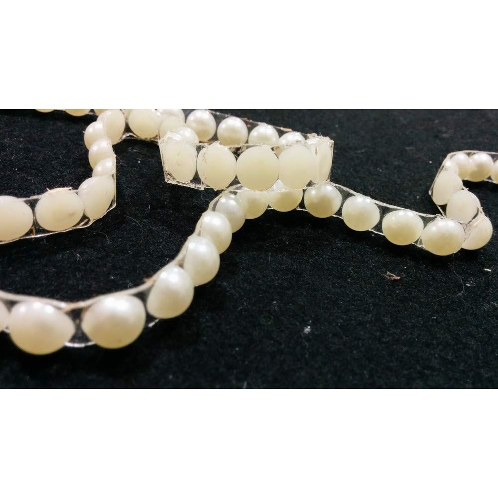 Trimmings Thermo-Adhesive Half Pearl in Resin of Milk-White high-10 mm