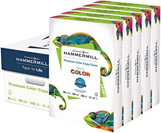 product image for Hammermill Cardstock, 60 lb, 162 GSM, Premium Color Copy, 17 x 11 - 5 Pack (1250 Sheets) - 100 Bright, Made In The USA Card Stock