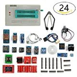 #5: Pic Programmer,VSTM Minipro Programmer+24 Adapters + IC clip Clamp TL866A AVR PIC Bios Programmer