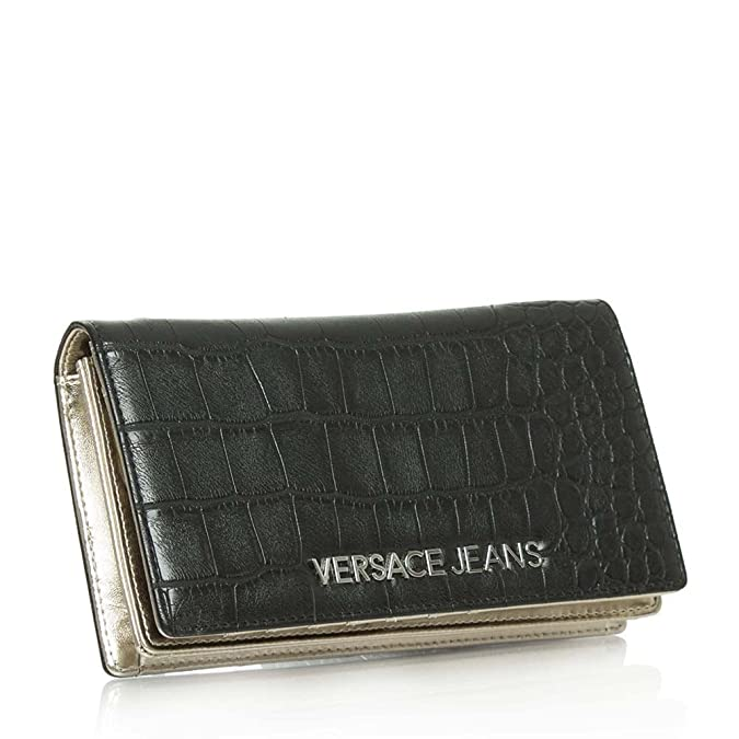 266370e301 Versace Jeans Charlize Black Fold Over Moc Croc Cross-Body Bag Black  Reptile: Amazon.co.uk: Shoes & Bags