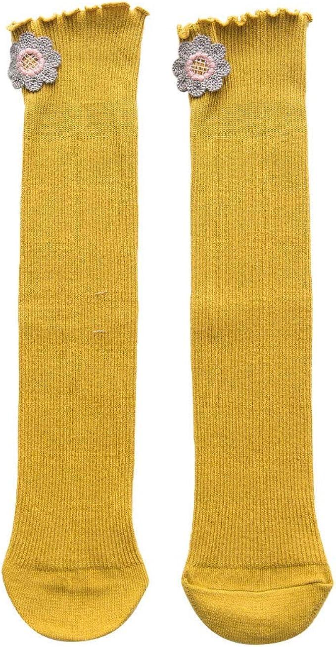 QinMMROPA 1 par calcetines de algodón flores para Bebe niñas otoño ...