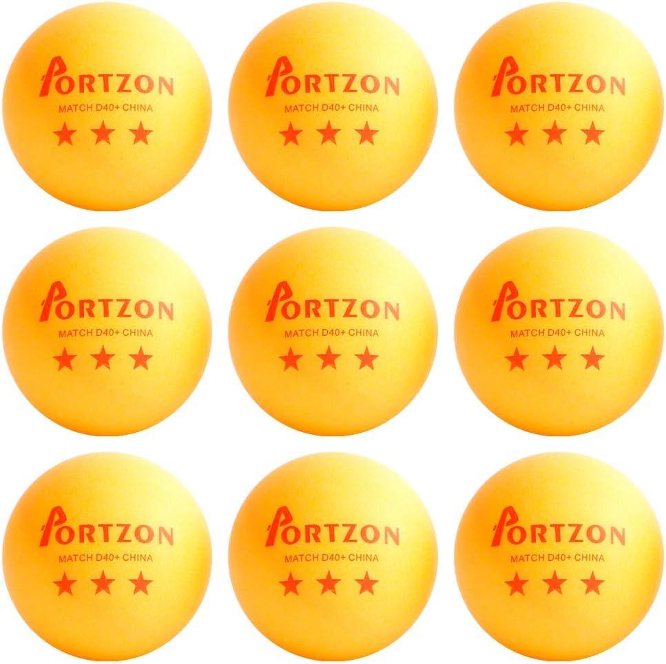 Orange Table Tennis Balls,Advanced Ping Pong Ball,Premium Training Ping Pong Balls Portzon 21-Pack 3-Star 40