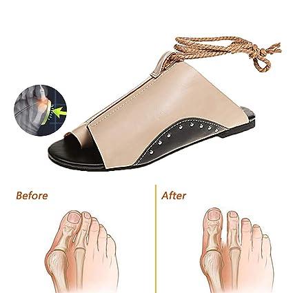 TTW Sandalias de Mujer Cómodos, Sandalias Chanclas Zapatos de Punta Abierta con Corrección de Juanetes