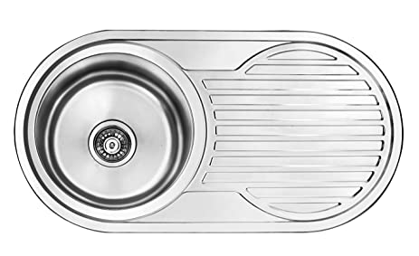 Amazon.com: RV Caravan Camper SS Wash Basin Kitchen Sink Round ...
