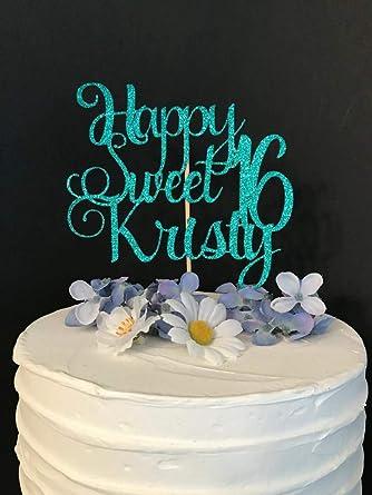 Cualquier nombre /'es un/' muchos colores de madera-no Tarjeta Cumpleaños Pastel Topper hecho a mano