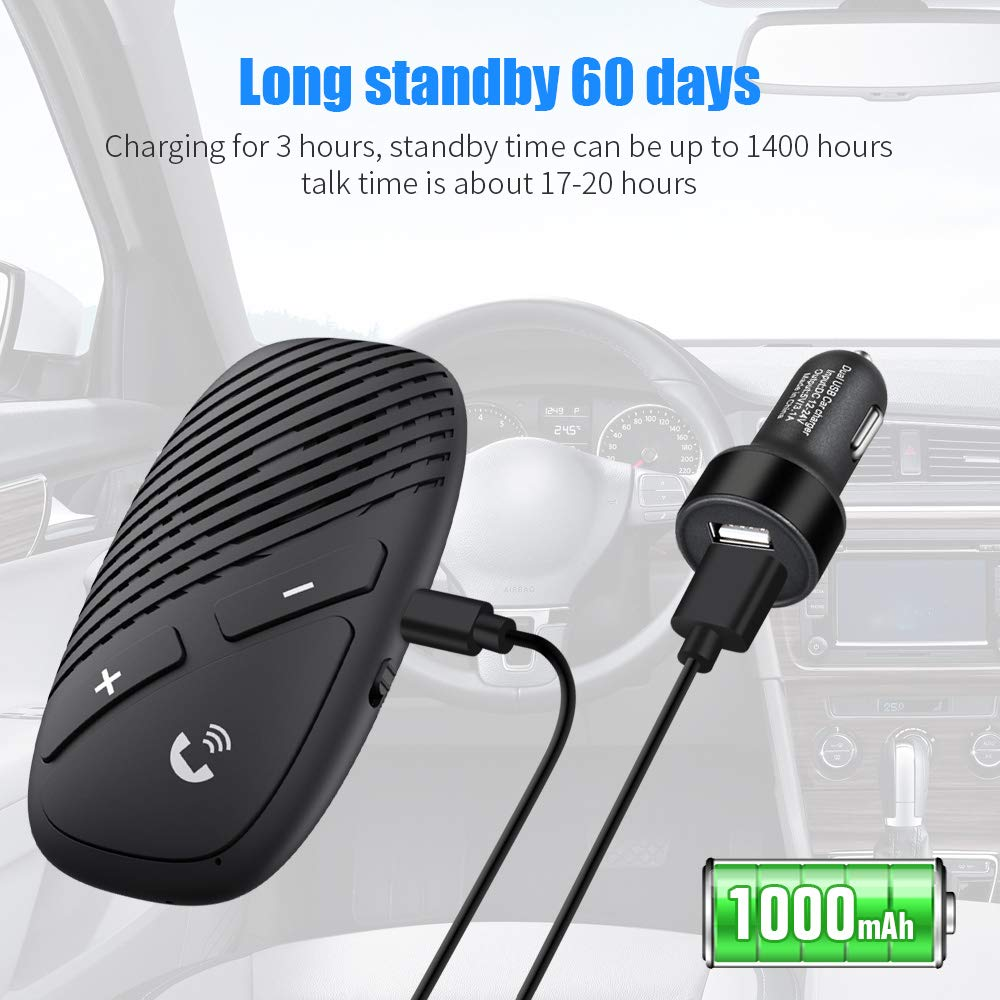 AUX Hands Free Calling with Wireless Control -BLS-P30 Car Stereo Music Receiver Player Sound Enhanced Bass//Built-in Mic//TF Card Player// Handsfree Bluetooth 5.0 Car Speakerphone