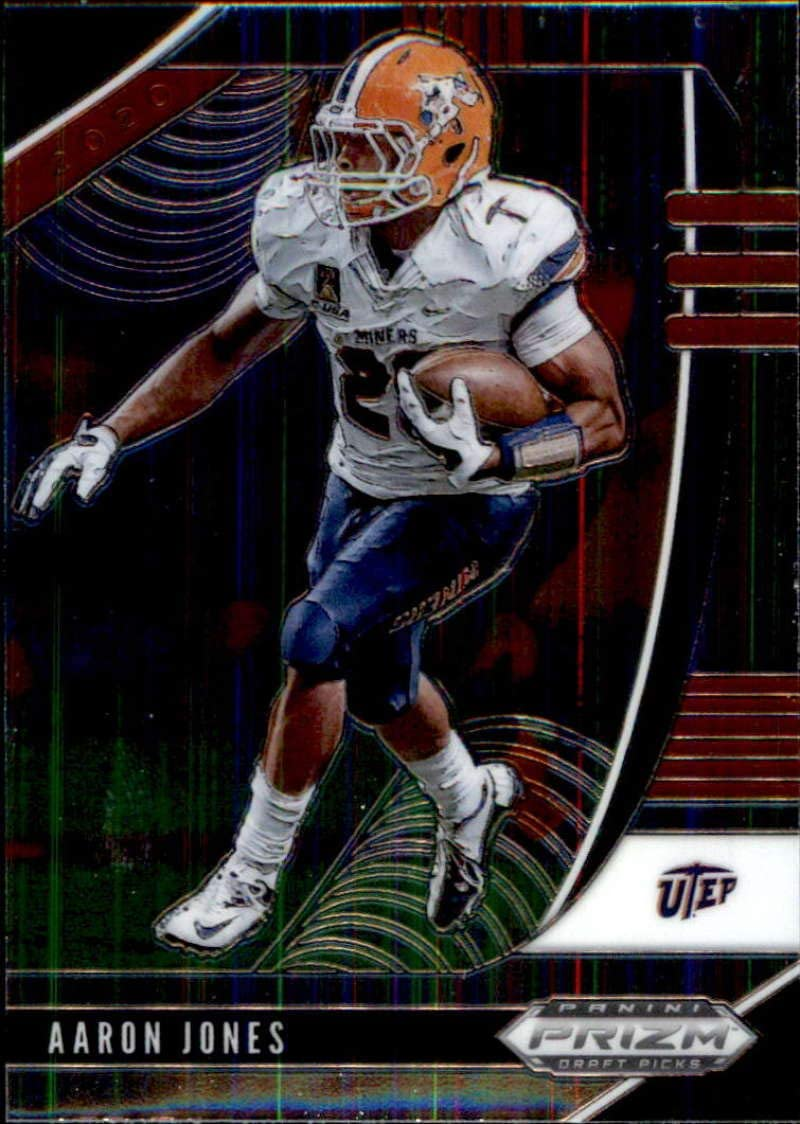 Amazon Com 2020 Panini Prizm Draft 2 Aaron Jones Utep Miners Football Trading Card Collectibles Fine Art