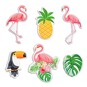 Flamingo Fridge Magnets Ins Style Beautiful Refrigerator Magnets for Whiteboards Office Cabinets Kids Lockers Cute Pineapple Monstera Toucan Animal Decorative Magnets