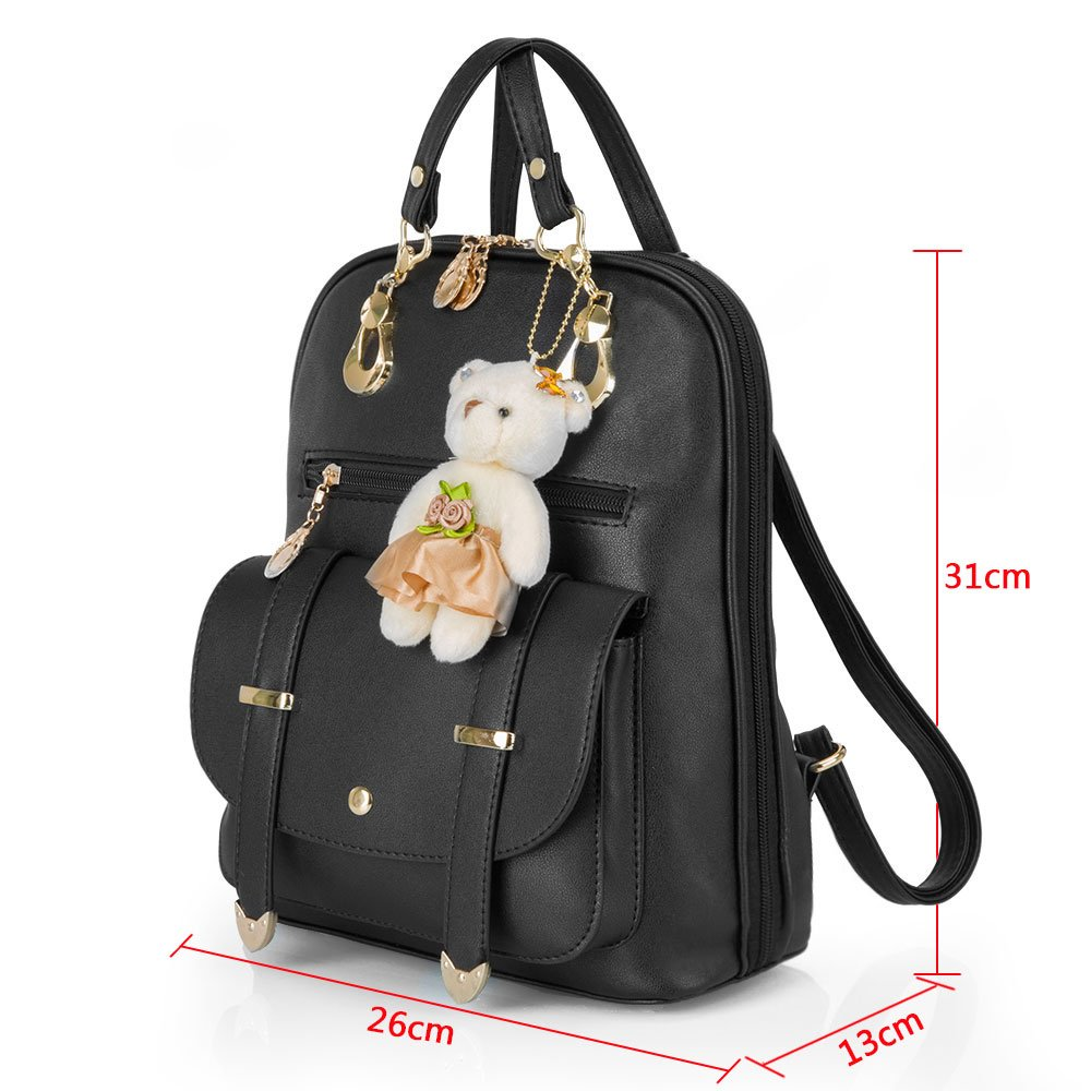 Hotrose Christmas Gift Sweet PU Leather School College Travel Outdoor Bag  Girls Backpack  Amazon.co.uk  Luggage 29c27e98b265d
