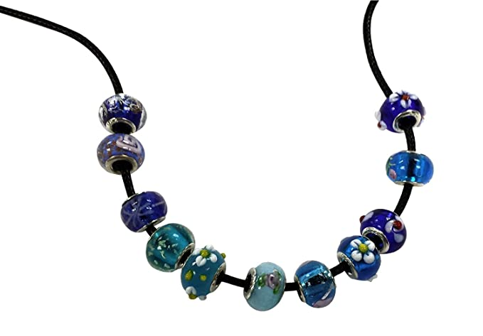 de4ea9654 Pack of Ten (10) Assorted Colorful 100% Pure Murano Glass Bead Charms - Fits  Pandora, Chamilia, Troll, and Biagi Charm Bracelets: Amazon.ca: Home &  Kitchen