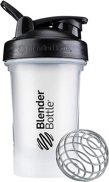 BlenderBottle C03595 Classic V2 Shaker Bottle, 20-Ounce, Clear/Black