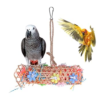 Amazon.com: Bird Toys - Parrot Toys Bamboo Knitted Paper ...