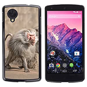 Super Stella Slim PC Hard Case Cover Skin Armor Shell Protection // M00145538 Baboon Monkey Zoo Animal Primate // LG Nexus 5
