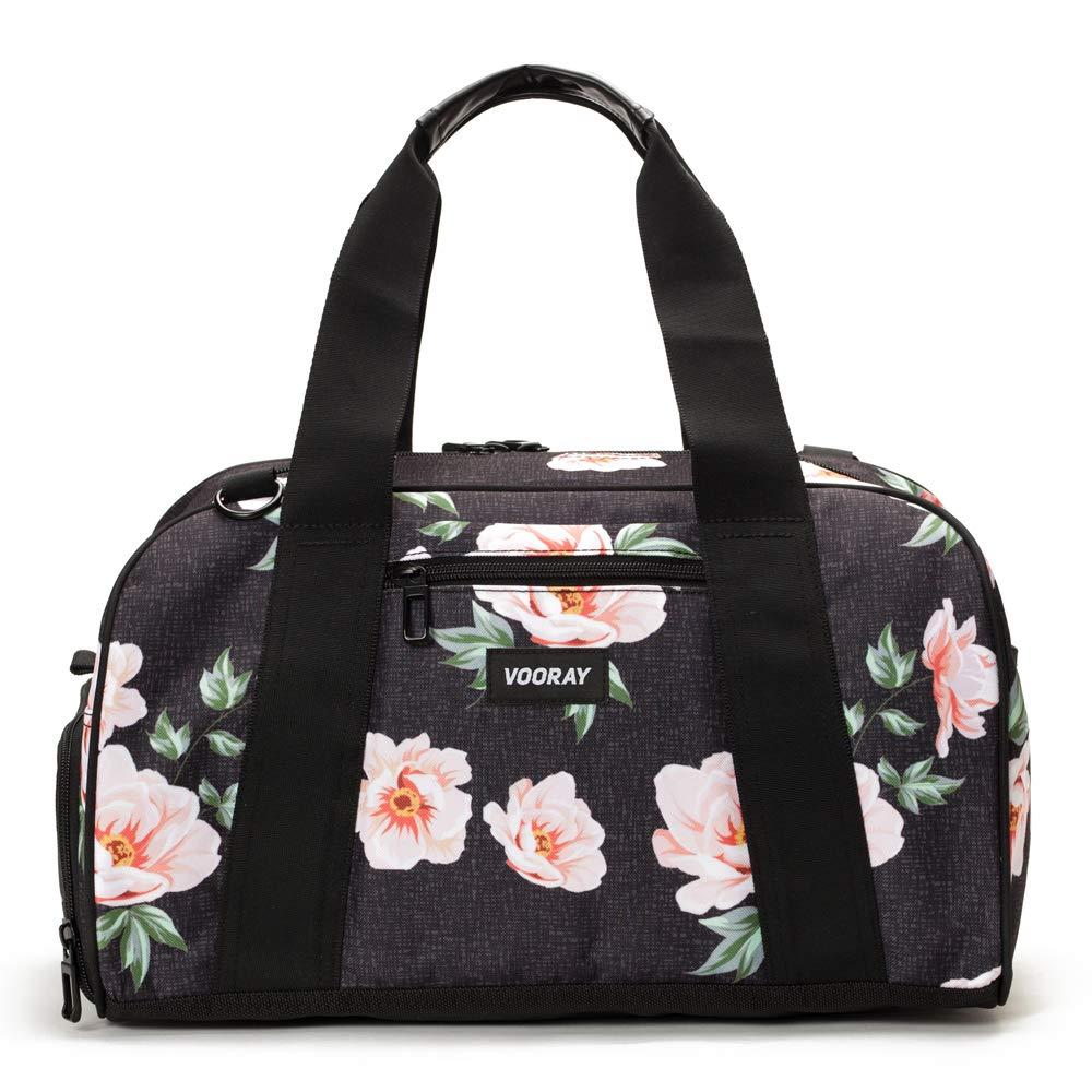 Vooray Burner 16'' Compact Gym Bag with Shoe Pocket (Rose Black) by Vooray
