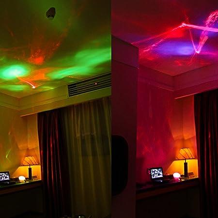 Gosear Proyector de Luces Nocturna Redondo Luz LED con MP3 Cable ...