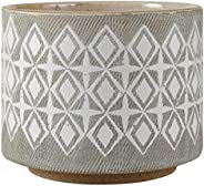 "Amazon Brand – Rivet Geometric Ceramic Planter Pot, 4.1""H,"