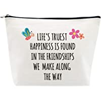 Inspirational Friendship Gifts Best Friends Gifts for Women Birthday Life's Truest Happiness is Found in Friendship…