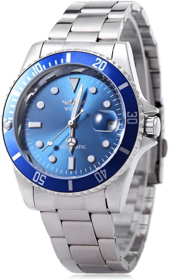 Leopard Shop W042602 Reloj de pulsera masculino automático mecánico reloj luminoso pantalla de fecha transparente cubierta trasera #5