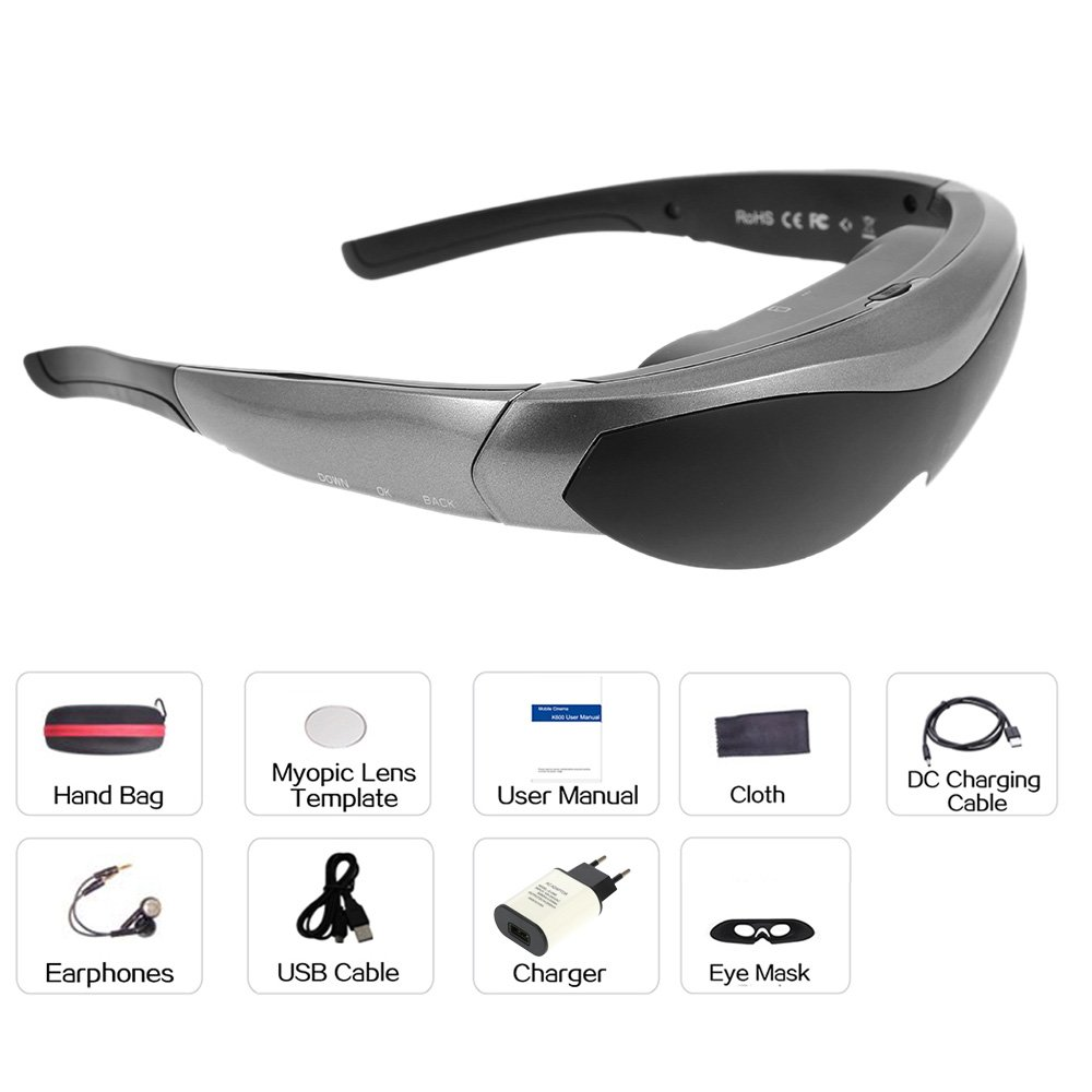 ammoon K600 Gafas de Video Inteligente Android Wi-Fi Gafas ...
