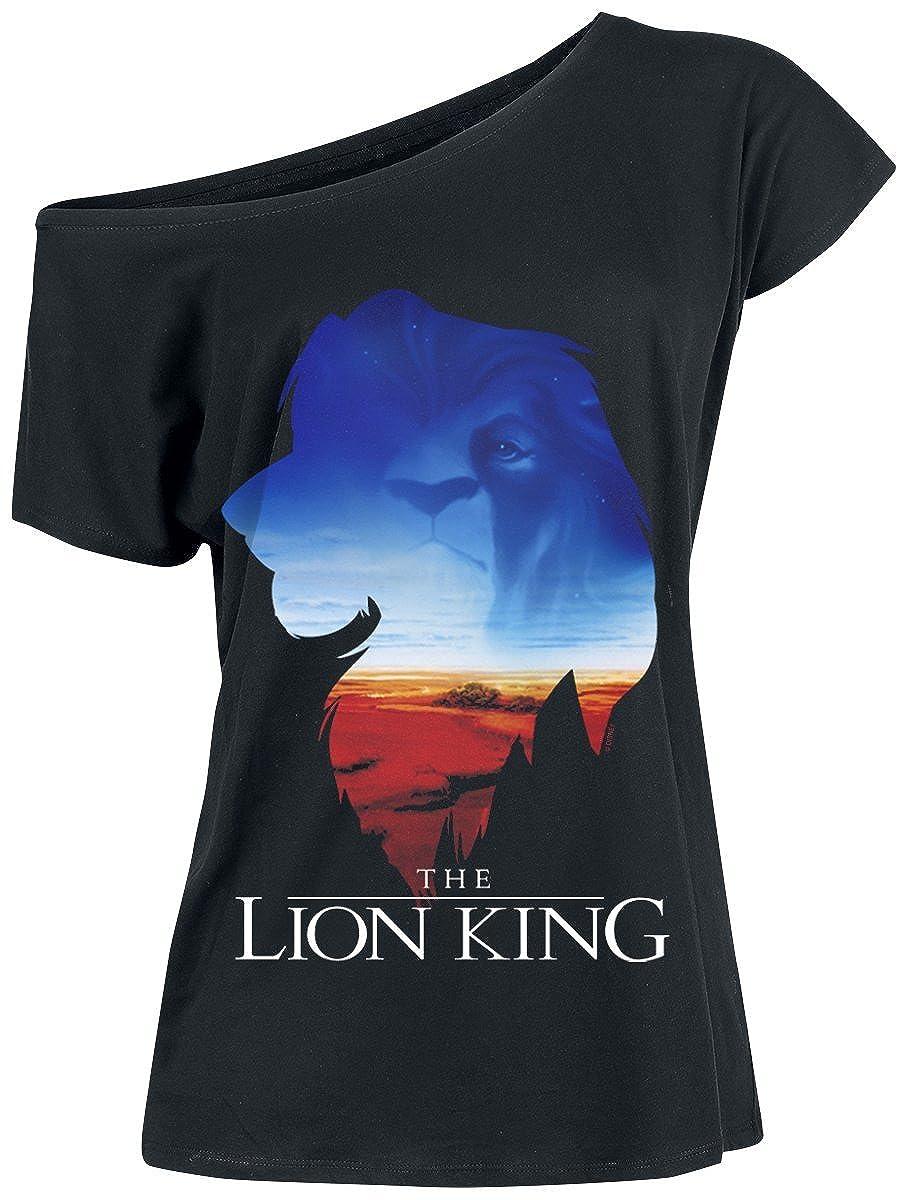 Le Roi Lion Kings World T-Shirt Femme Noir