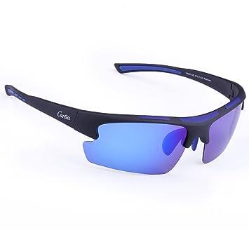 Gafas de Sol Deportivas, Carfia Gafas de Sol Deportivas Unisex Polarizadas con 100% Prtección UV400 para Viaje y Depoete al Aire Libre (B): Amazon.es: ...